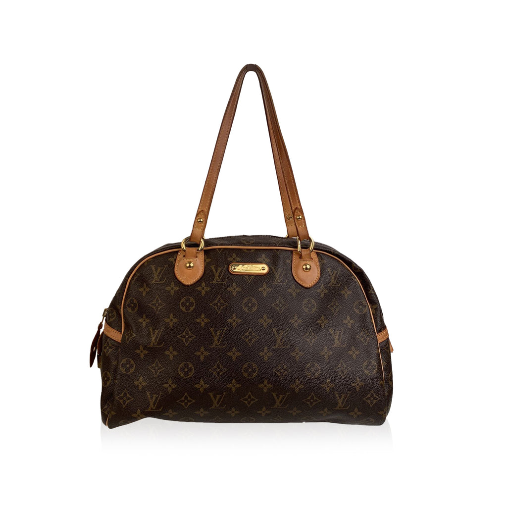 Louis Vuitton Brown Monogram Canvas Montorgueil GM Bowler Bag