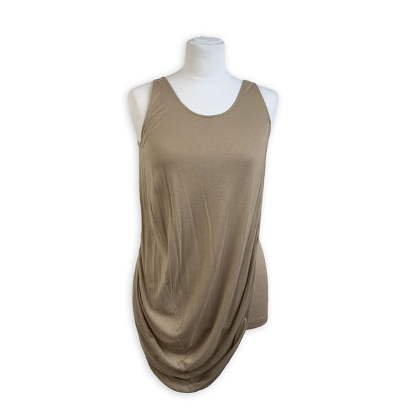Alexander McQueen Beige Draped Sleeveless Top Size 40