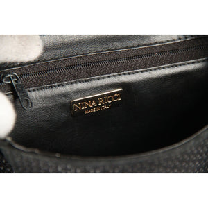 NINA RICCI PARIS Vintage Black Canvas CROSSBODY BAG