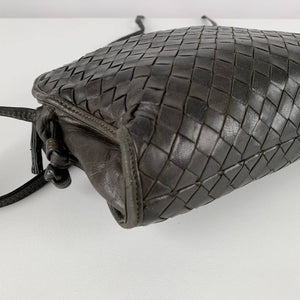 Bottega Veneta Vintage Woven Leather Messenger Bag