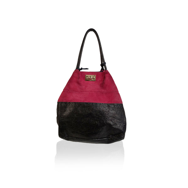 Chloe Bicolor Color Block Suede and Leather Large Tote Bag