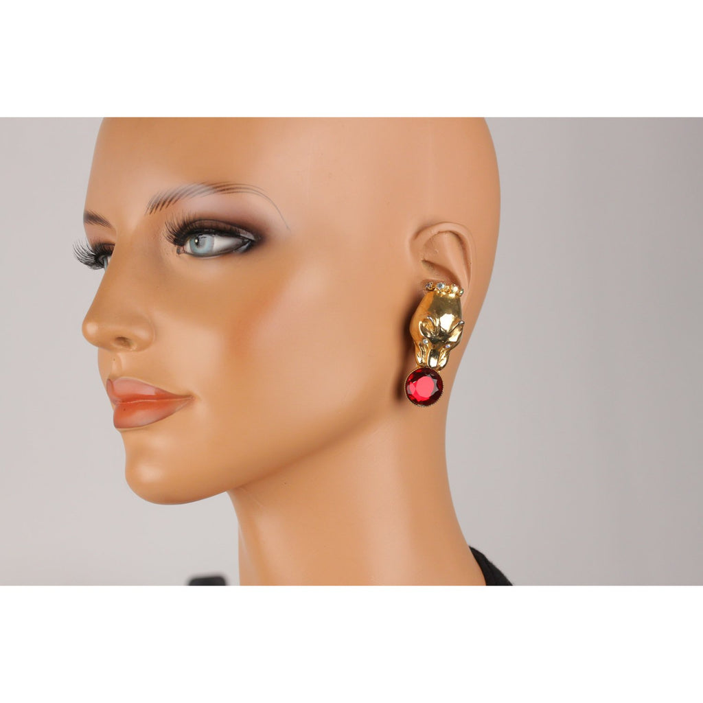 Vintage Panther's Head Earrings