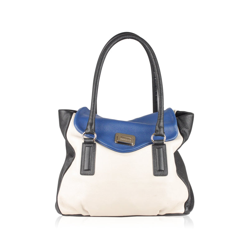 Marella  Tricolor Leather Satchel