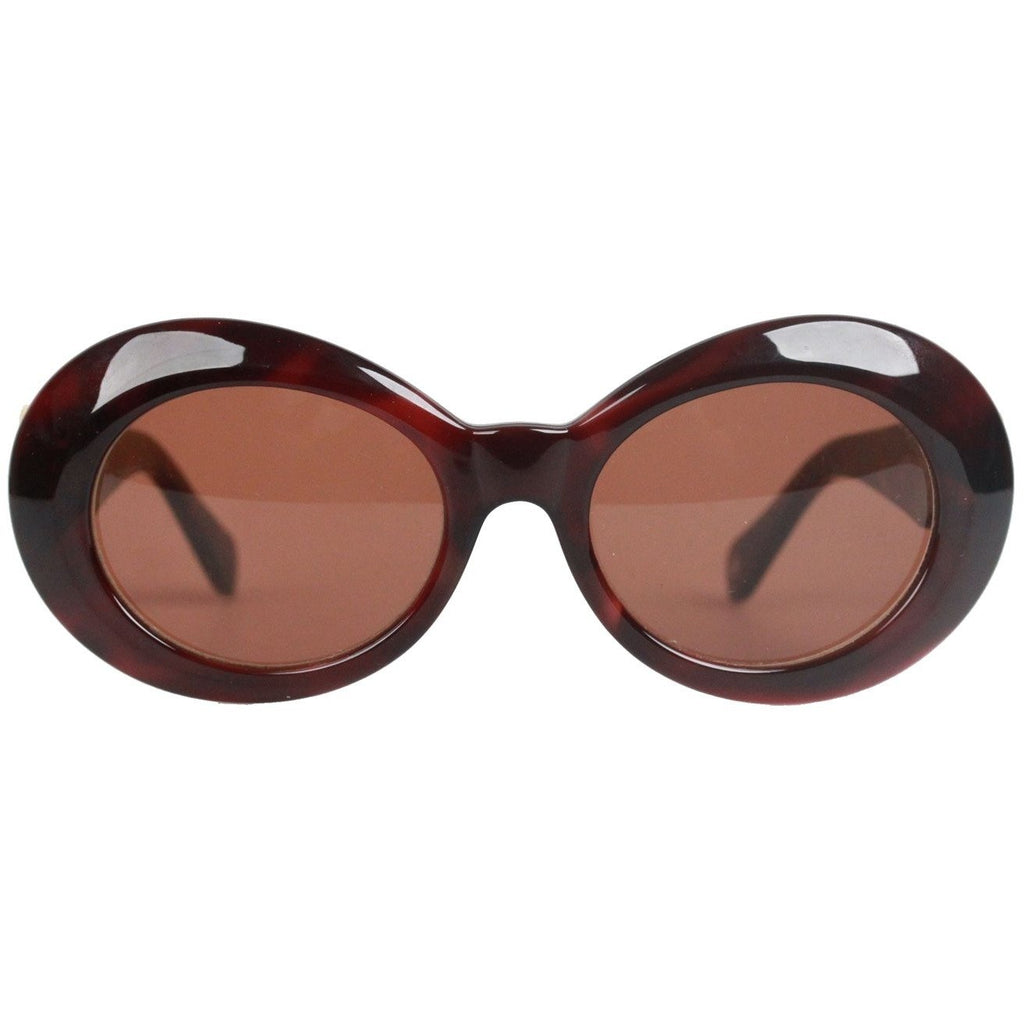 Brown Sunglasses Mod 418 Col 900 Gold Medusa