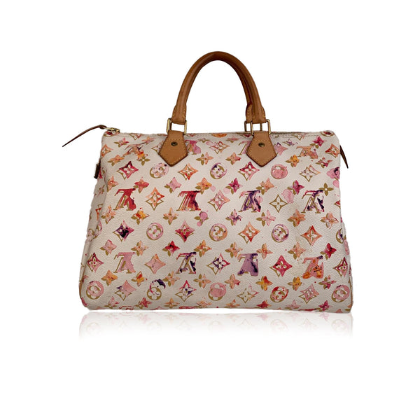 Louis Vuitton Limited Edition Richard Prince Watercolor Speedy 35 Bag