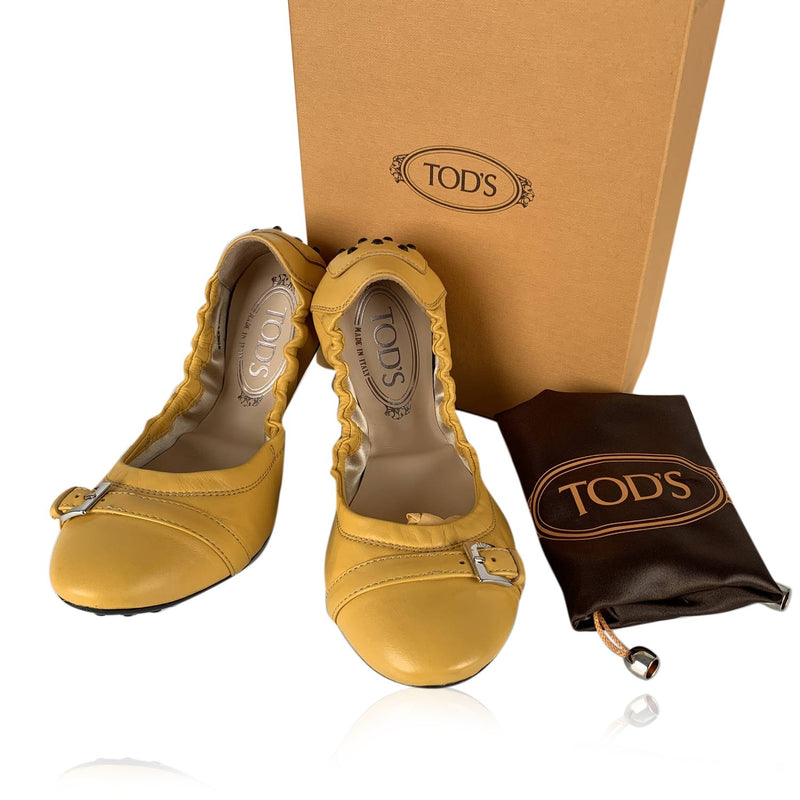 Tod's  Dee Ballerina Flat Shoes Size 37