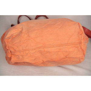 Orange Canvas Tote Shoping Bag