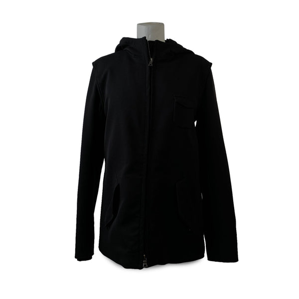 Prada Sport Black Nylon Hooded Zip Jacket Art. 280634 Size 46