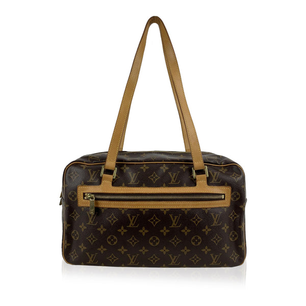 Louis Vuitton Brown Monogram Canvas Cite GM Satchel Tote Bag