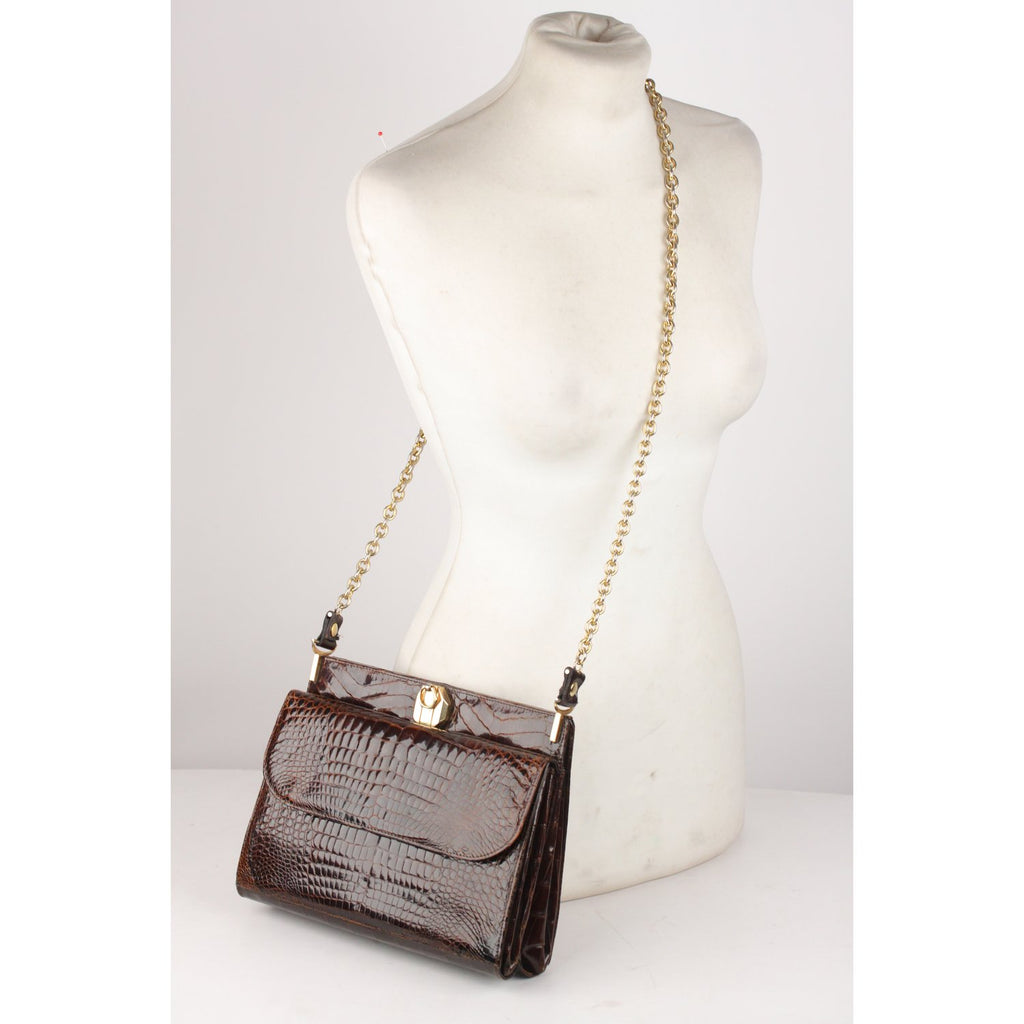 Vintage Shoulder Bag with Chain Strap