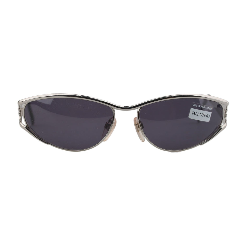 Valentino Unisex Silver Metal Sunglasses V712 918 125mm New Old Stock