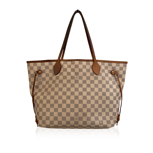Louis Vuitton Damier Azur Canvas Neverfull MM Tote Bag