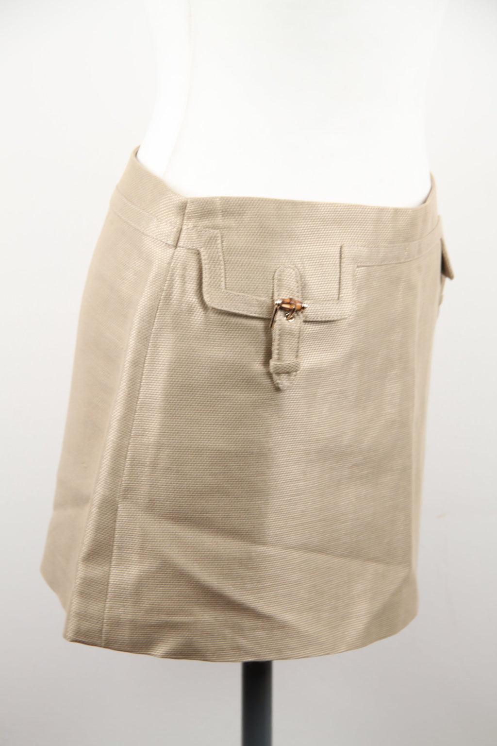 Gucci Mini Skirt with Bamboo Detailing Size 40