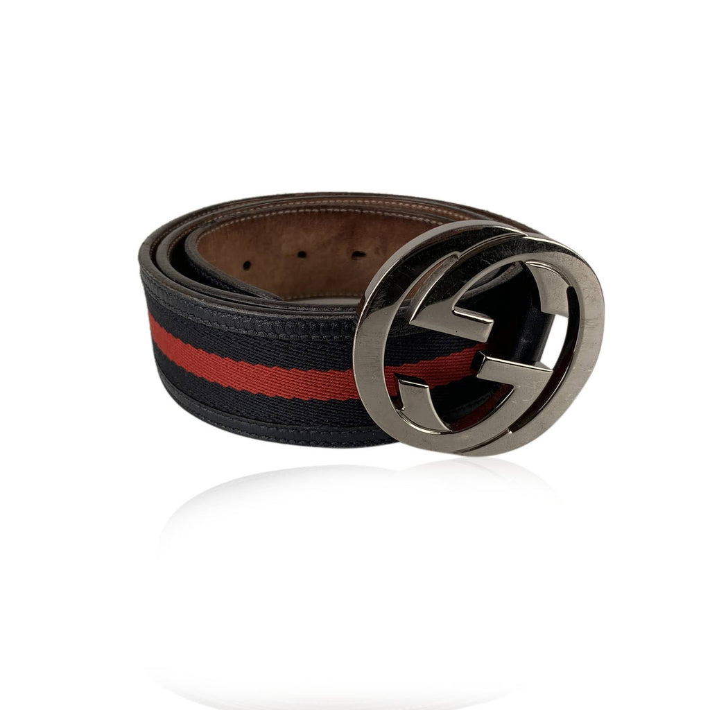 Gucci Signature Web Belt with GG Buckle Size 90/36