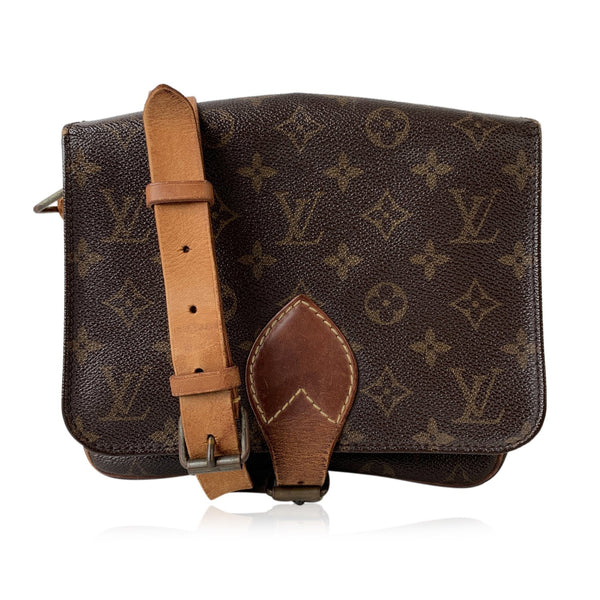 Louis Vuitton Vintage Monogram Canvas Cartouchiere MM Messenger Bag