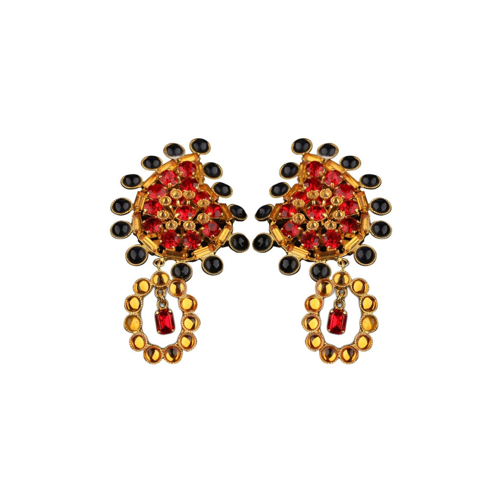 Vintage Haute Couture Paisley Earrings