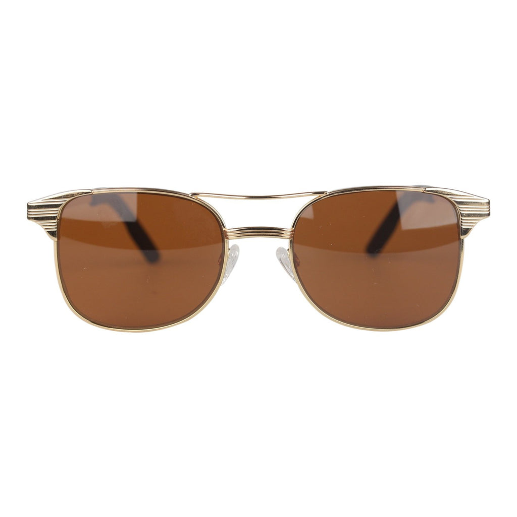 Aviator Sunglasses Mineral Glass LAUREN Brown Lenses - OPHERTY & CIOCCI