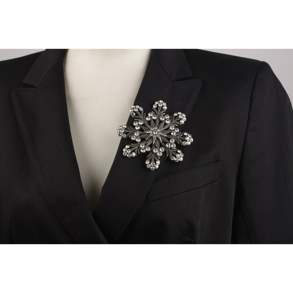Haute Couture Snowflake Brooch