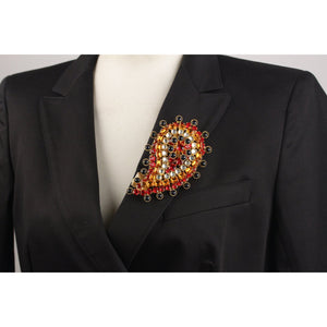 Vintage Haute Couture Paisley Brooch