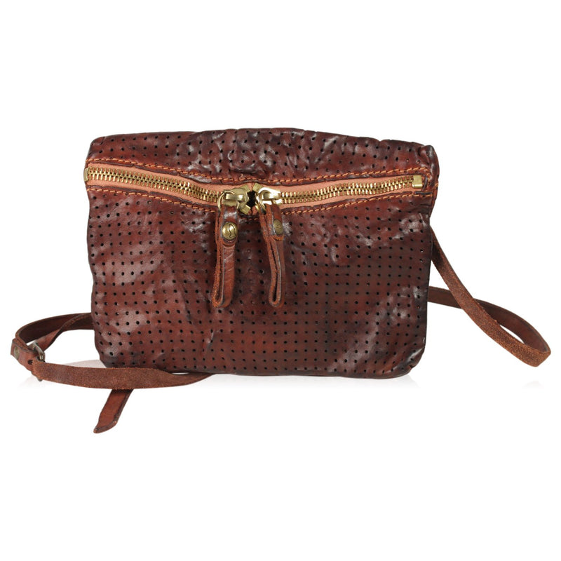 Perforated Small  Messenger Bag