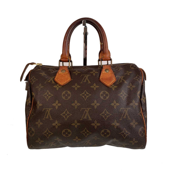 Louis Vuitton Vintage Brown Monogram Canvas Speedy 25 Bag