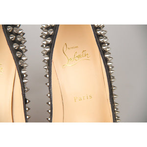Fifi Silver Spikes 100 Pumps Shoes 36.5
