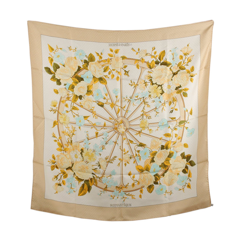 Hermes Romantique 1981 Maurice Tranchant Silk Scarf