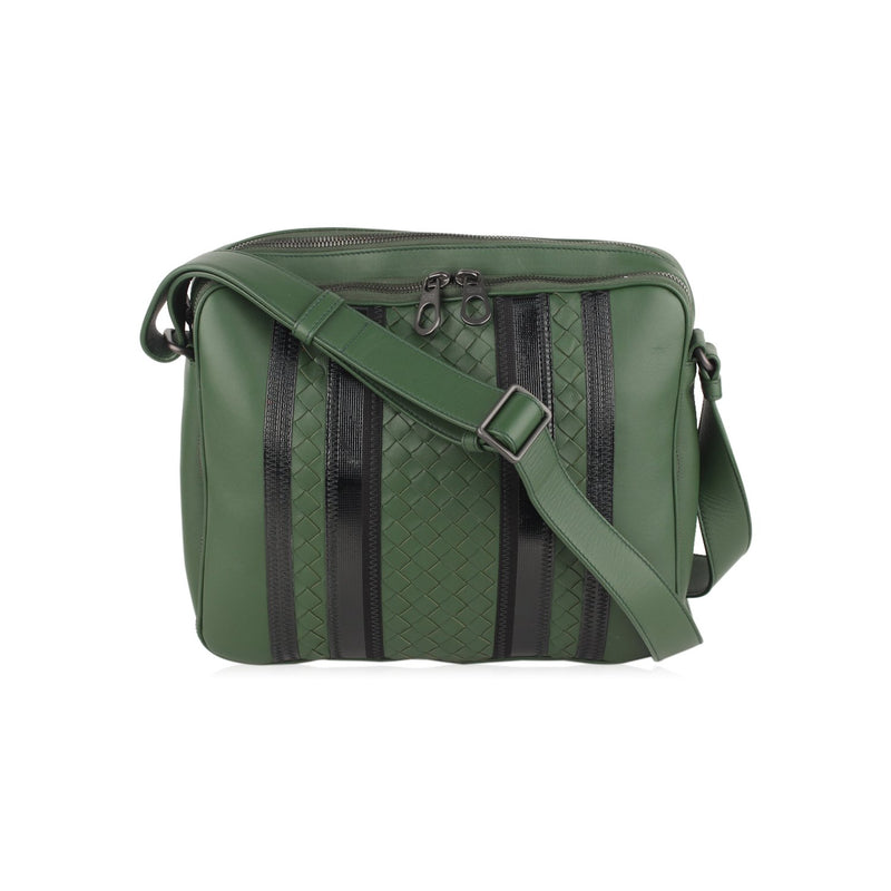 Bottega Veneta Tech Stripe Messenger Bag