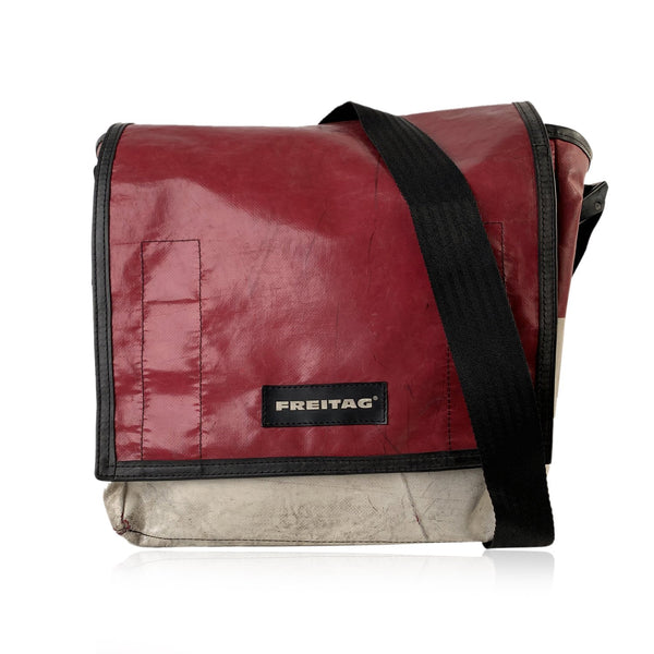 Freitag Off White and Red F21 Nightclub DJ Bag Messenger Crossbody