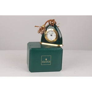Gucci Vintage  Stirrup Desk Table Clock