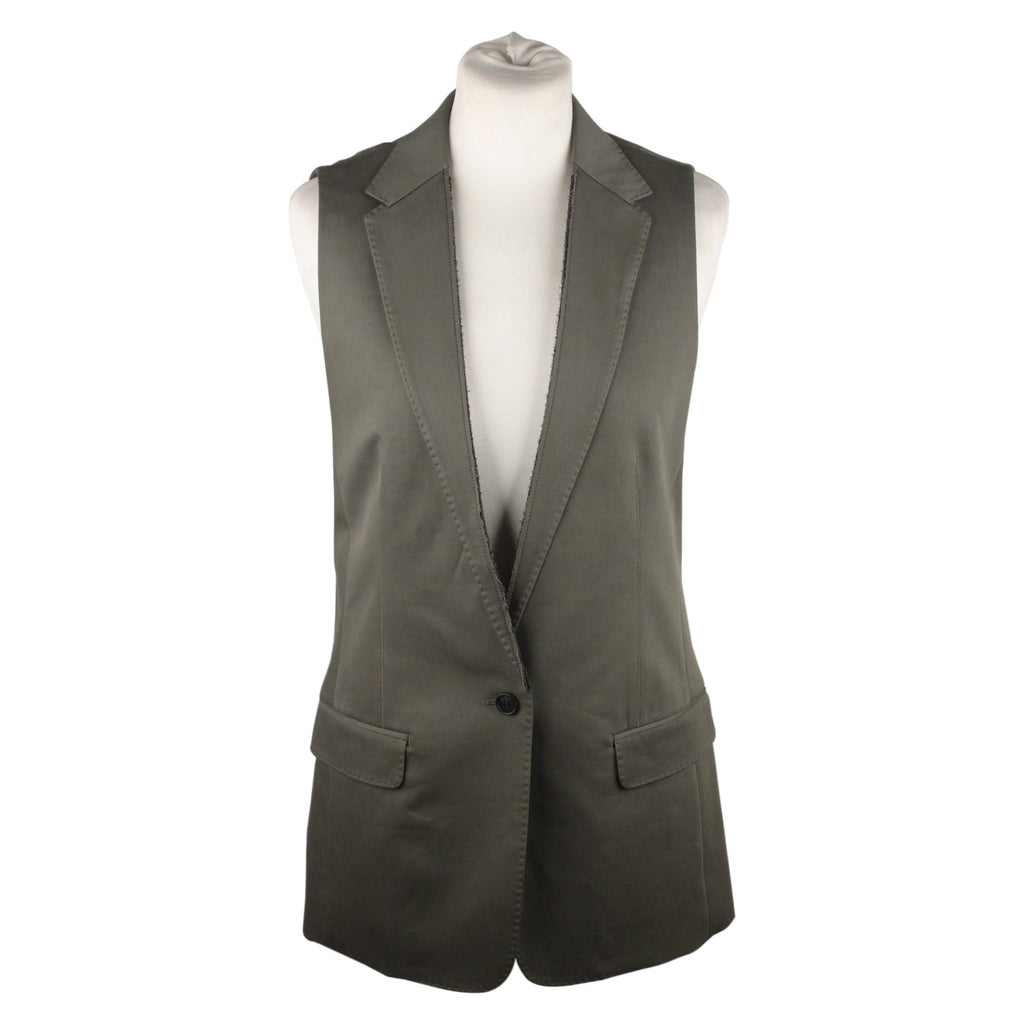 Cotton Blend Tali Sleeveless Blazer
