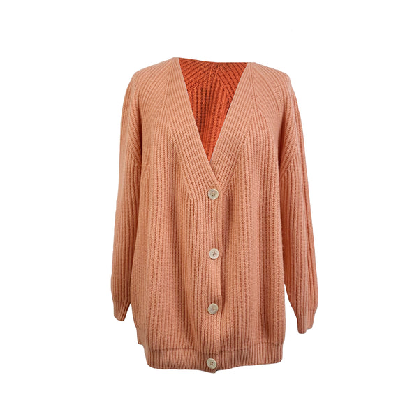 Maria Di Ripabianca Vintage Baby Pink Cashmere Cardigan Size 44