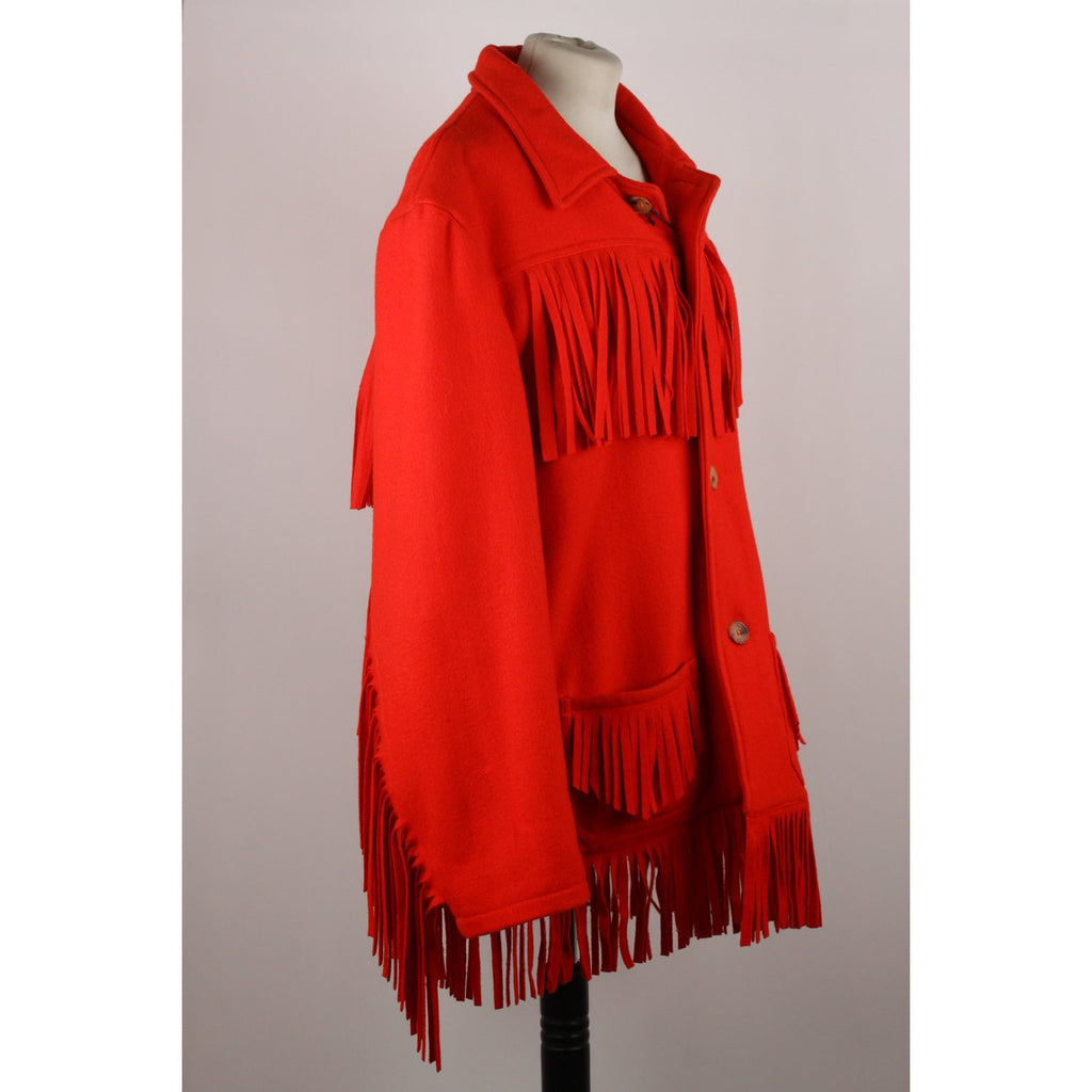 Oversized Fringed Jacket Size XL