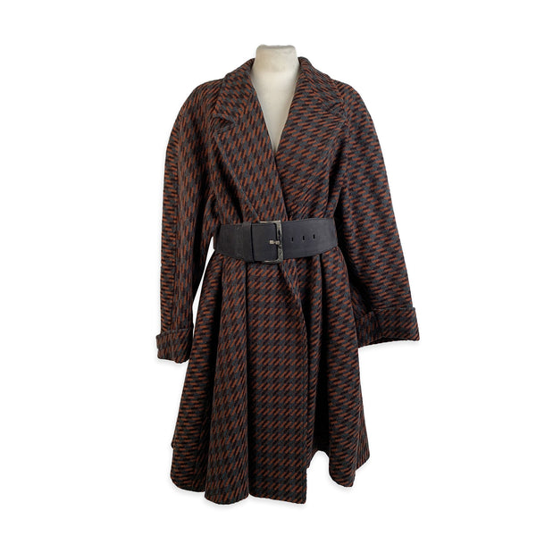 Missoni Donna Vintage Belted Wool Oversized Coat Size 40