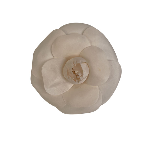 Chanel Vintage White Camelia Camellia Flower Pin Brooch