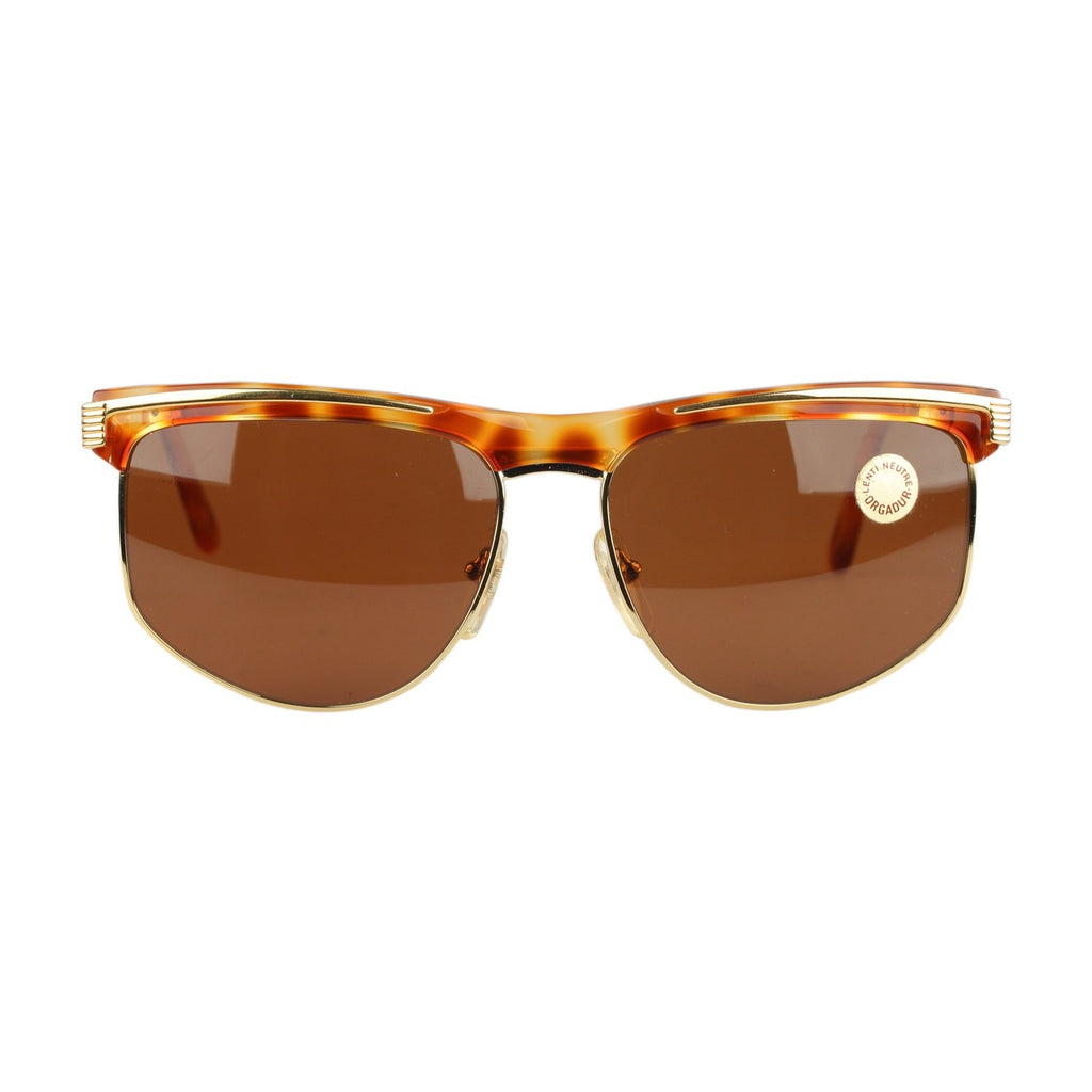 Persol Vintage Sunglasses Unisex Gold and Brown Mod. U463 135 wide
