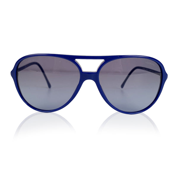 Chanel Blue Acetate Aviator Sunglasses Mod 5287 A Small Logo