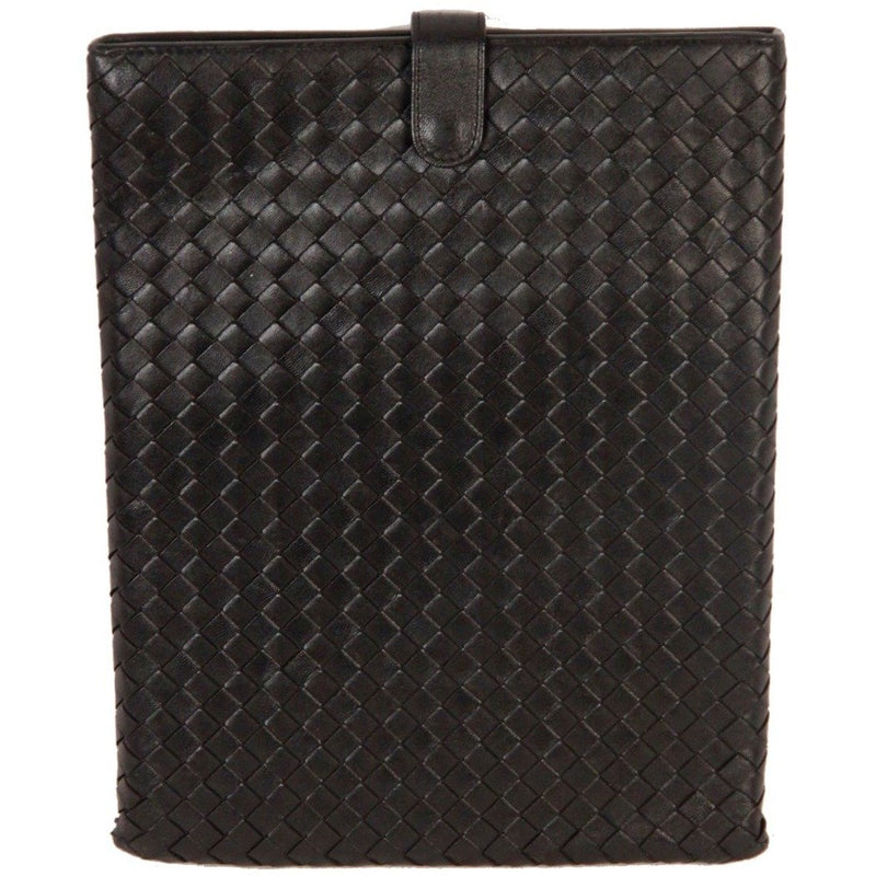 BOTTEGA VENETA Black INTRECCIATO Woven Leather IPAD CASE