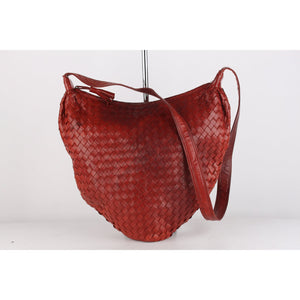 Intrecciato Woven Leather Shoulder Bag
