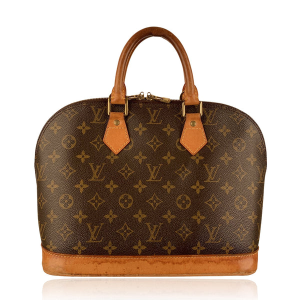 Louis Vuitton Vintage Brown Monogram Canvas Alma Top Handle Handbag