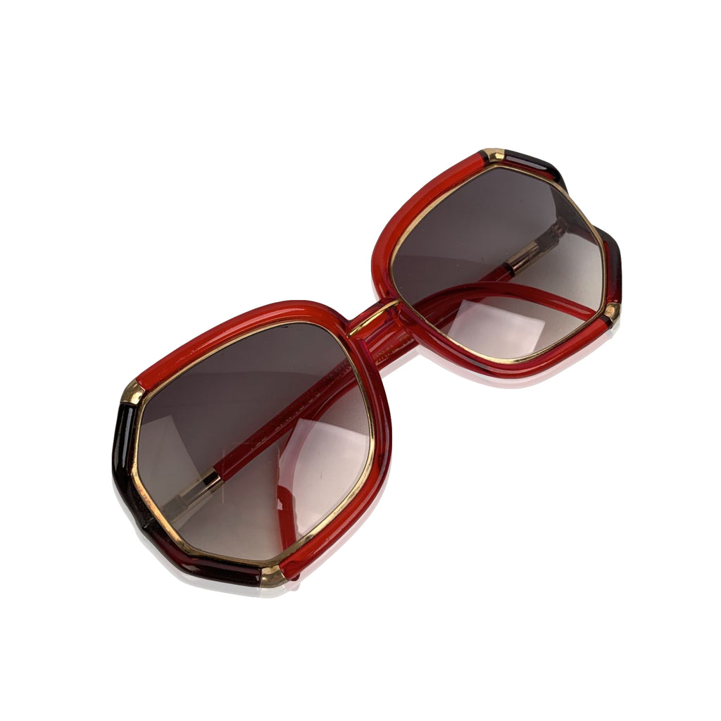 Ted Lapidus Vintage Red Black Sunglasses TL10 56-16 135mm