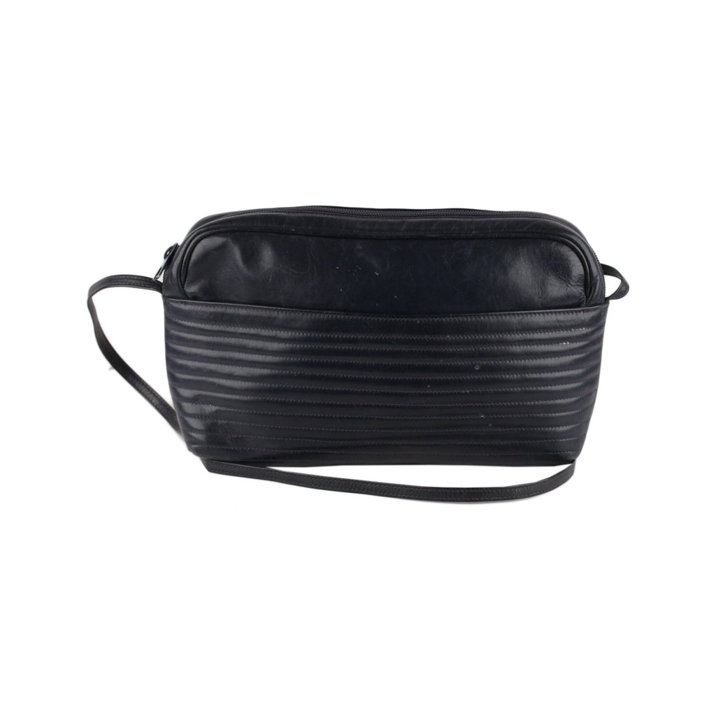 Valentino Vintage Ribbed Messenger Bag