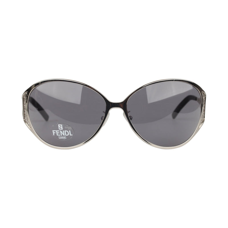 Fendi Silver Metal Oversized Women Sunglasses Mod. FS361