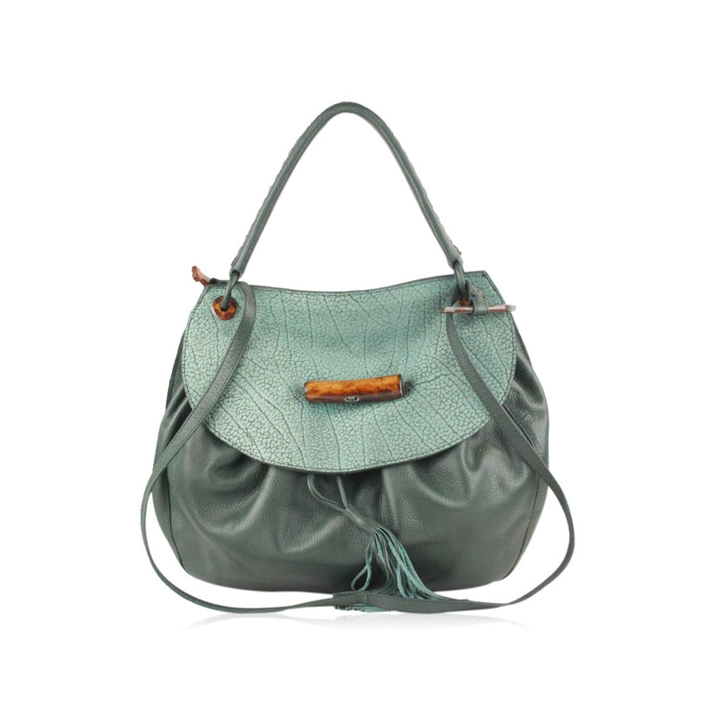 Flap Shoulder Bag With Horn Look Detail Opherty & Ciocci
