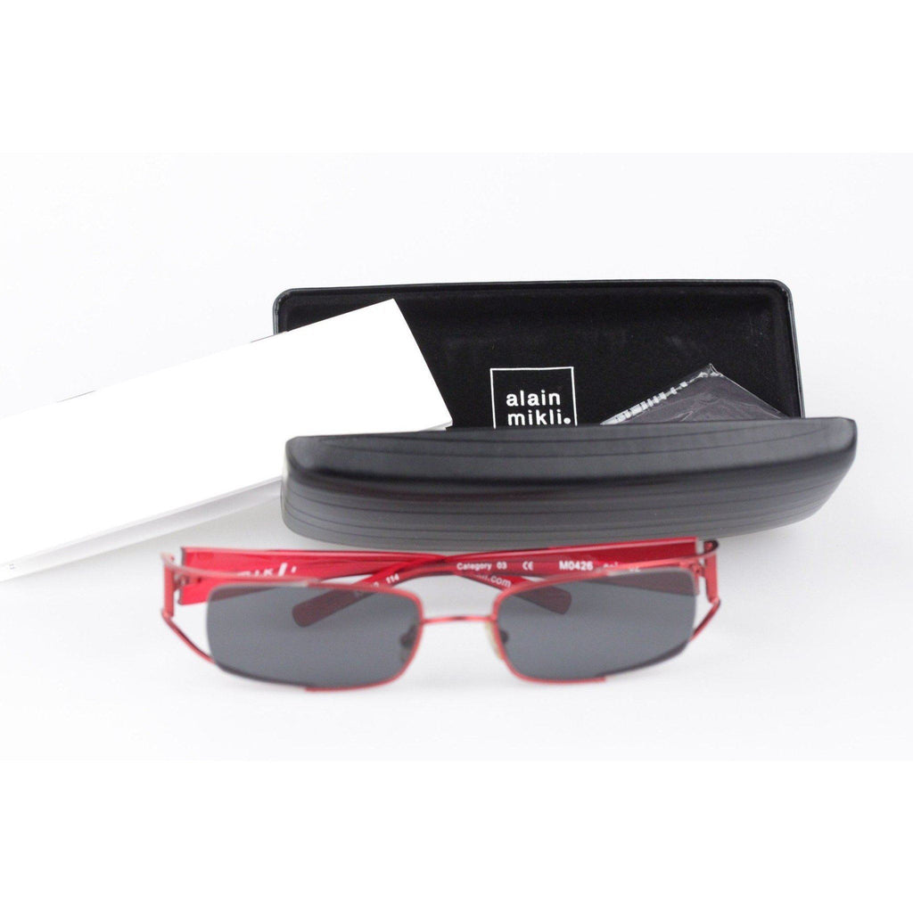 Alain Mikli Sunglasses M0426 53-19Mm Red Rectangular Opherty & Ciocci