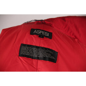 ALBERTO ASPESI Red PADDED Thermore DOUBLE BREASTED JACKET w/Belt SZ S