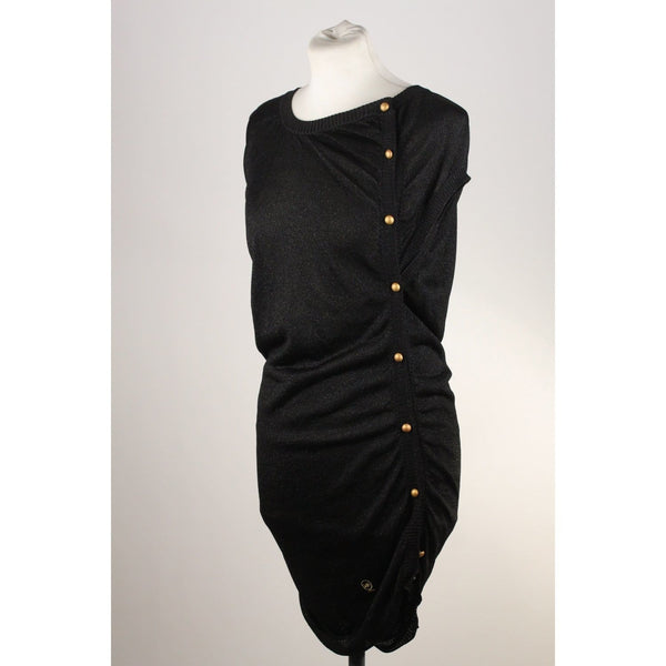 Knit Dress With Side Buttons Opherty & Ciocci