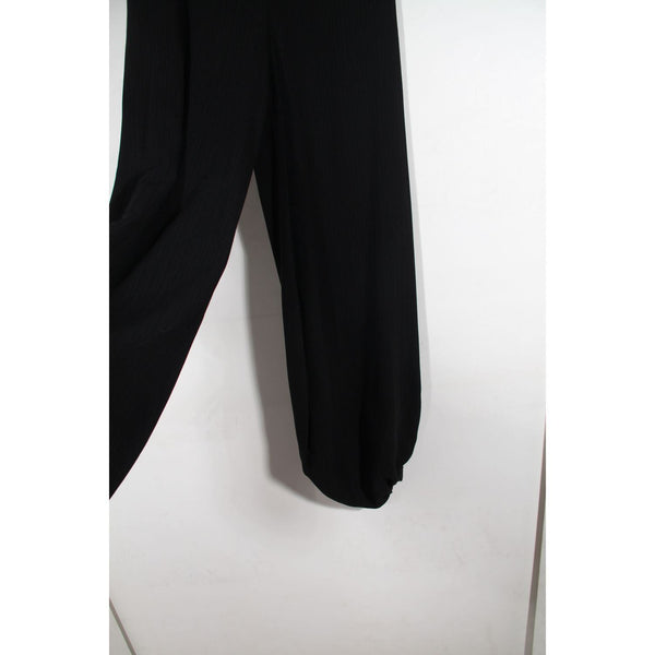 Antonio Marras Black Wool Blend Wide Leg Trousers Pants Sz 40 It Opherty & Ciocci