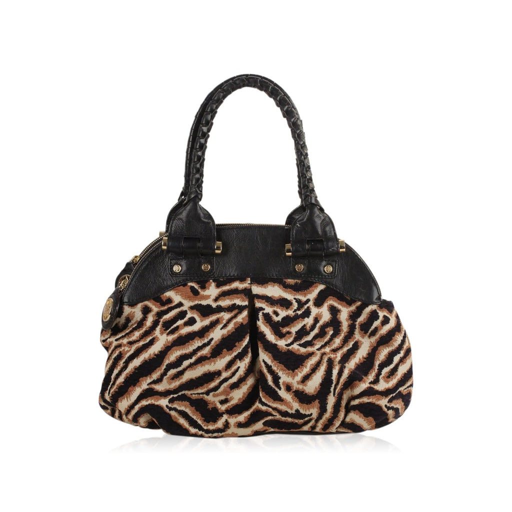 Animal Print Canvas Satchel Bag Opherty & Ciocci