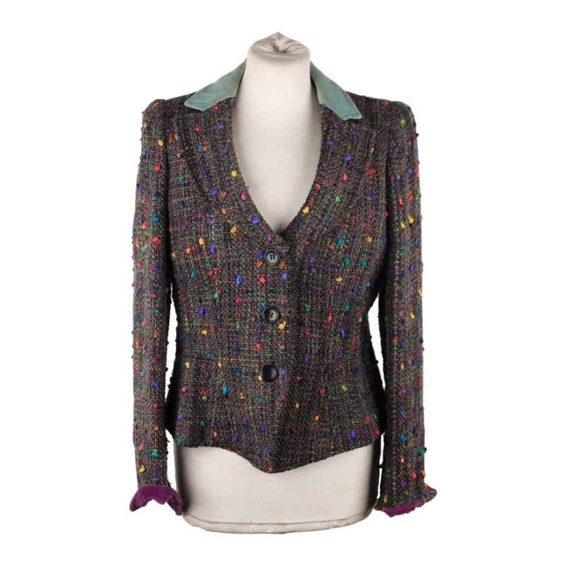 Armani Colezioni Gray Tweed Blazer Jacket Size 42 Opherty & Ciocci